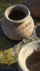 antieke potten uit thailand