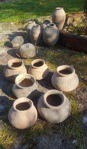 Antieke potten en kruiken uit Thailand
